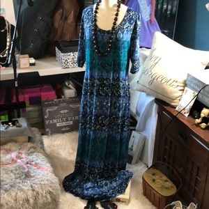 NWT Blue and Green Long Dress
